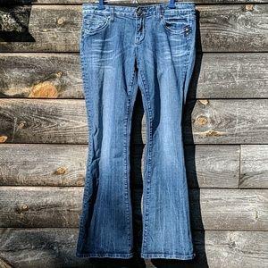 ReRock for Express Boot Cut Blue Jeans